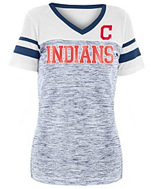 Women's Cleveland Indians Space Dye Sequin T-Shirt