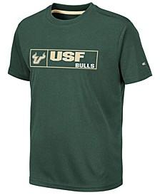 Big Boys South Florida Bulls Boxed Logo Polyester T-Shirt