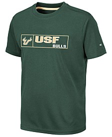 Colosseum Big Boys South Florida Bulls Boxed Logo Polyester T-Shirt