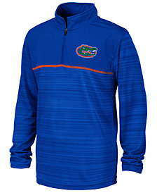 Colosseum Big Boys Florida Gators Striped Mesh Quarter-Zip Pullover