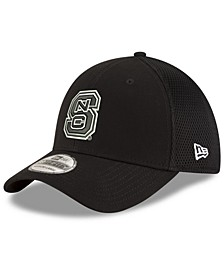 North Carolina State Wolfpack Black White Neo 39THIRTY Stretch Fitted Cap