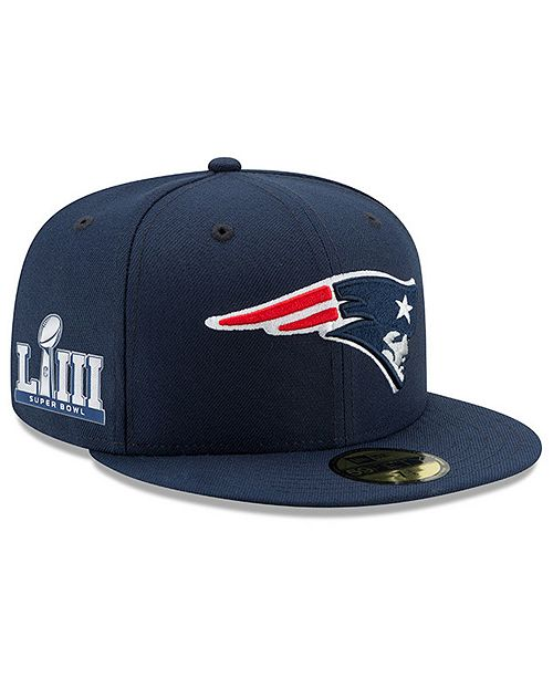 New Era New England Patriots Super Bowl LIII Team Basic Patch 59FIFTY Fitted Cap