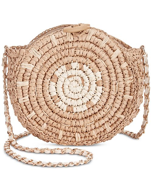 INC International Concepts I.N.C. Straw Circle Crossbody, Created for Macy's