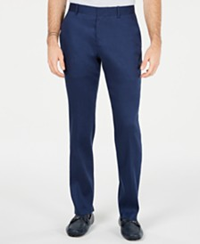 Alfani Men's Variegated Herringbone Linen-Blend Pants, Created for Macy's
