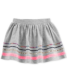 Carter's Toddler Girls Sequin-Trim Cotton Skirt