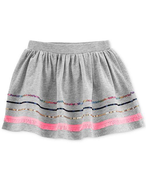 Carter's Toddler Girls Sequin-Trim Cotton Skirt