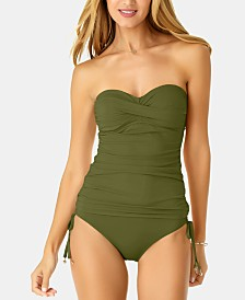 Anne Cole Twisted Strapless Tankini Top