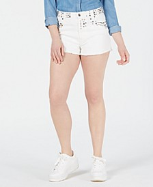 Icon Studded Cutoff Shorts