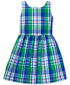 Polo Ralph Lauren Toddler Girls Plaid Fit & Flare Dress, Created for Macy's