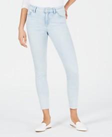 M1858 Kristen Frayed-Hem Skinny Jeans