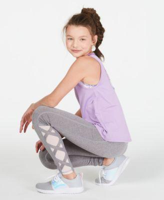 Big Girls Caged-Hem Leggings, Created for Macy's