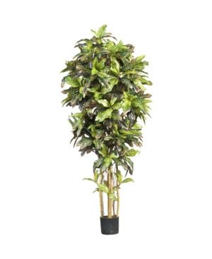 Nearly Natural 6' Croton Faux Silk Tree