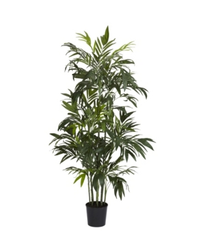 Nearly Natural 6' Bamboo Palm Faux Silk Tree