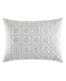 Tuille Floral White Throw Pillow
