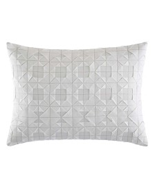Vera Wang Tuille Floral White Throw Pillow