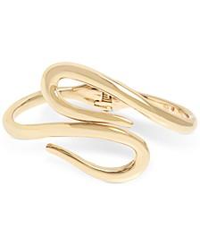 Gold-Tone Curved Bypass Bracelet