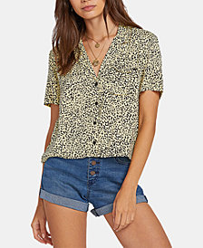 Volcom Juniors' Printed Cropped Shirt