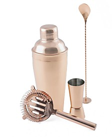 Thirstystone Copper Stainless Steel Shaker & Tool Set