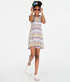 Epic Threads Big Girls Striped Fit & Flare Dress, Created for Macy's