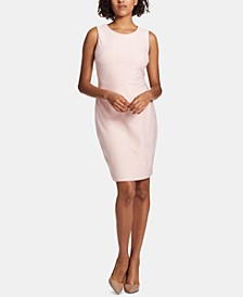 Petite Crisscross-Knit Sleeveless Sheath Dress