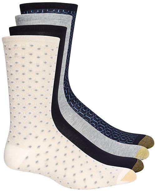 Gold Toe 4-Pk. Geo Repeat Crew Socks