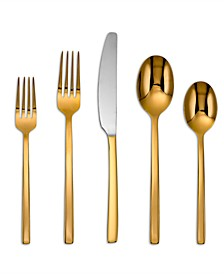 Beacon Gold Mirror 20-Piece Flatware Set, Service for 4