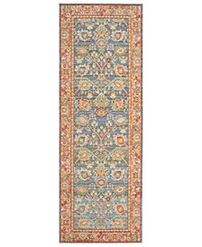 "Fraser Colorwashed Kilim 22"" x 61"" Accent Rug"