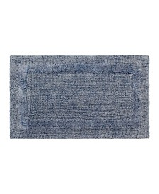 French Connection Stonewash Cotton Blend Bath Rug Collection