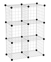 Honey Can Do Modular Mesh Storage Cubes, 6 Pack