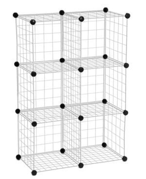 Honey Can Do Modular Mesh Storage Cubes 6 Pack