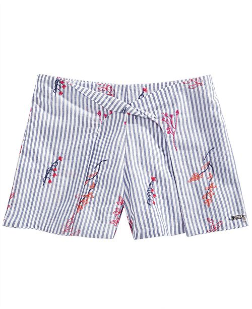 GUESS Big Girls Cotton Floral Embroidered Shorts
