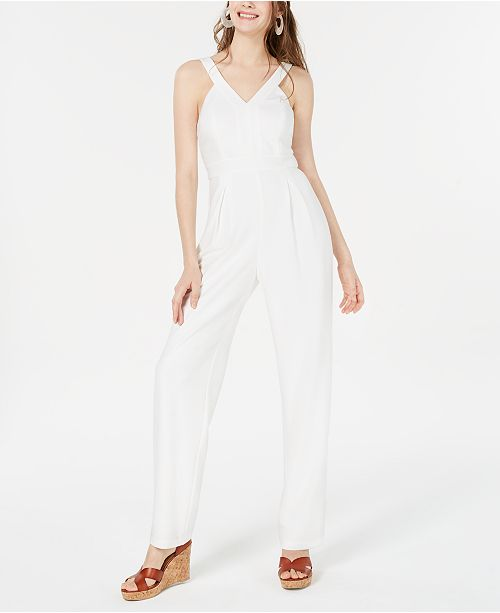 Teeze Me Juniors' V-Neck Jumpsuit