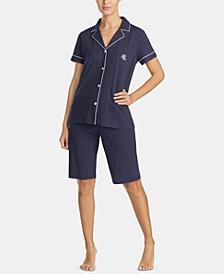 Bingham Bermuda Printed Cotton Pajama Set