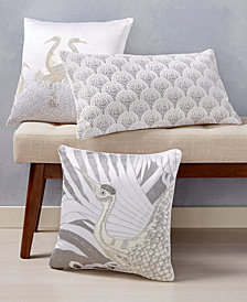 Home Design Studio Crane Decorative Pillow Collection, Created for Macy's