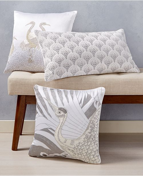 Home Design Studio CLOSEOUT! Crane Decorative Pillow Collection, Created for Macy's