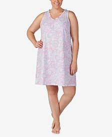 Lauren Ralph Lauren Plus Size Knit Cotton Nightgown