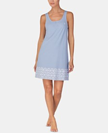 Lauren Ralph Lauren Embroidered Knit Nightgown
