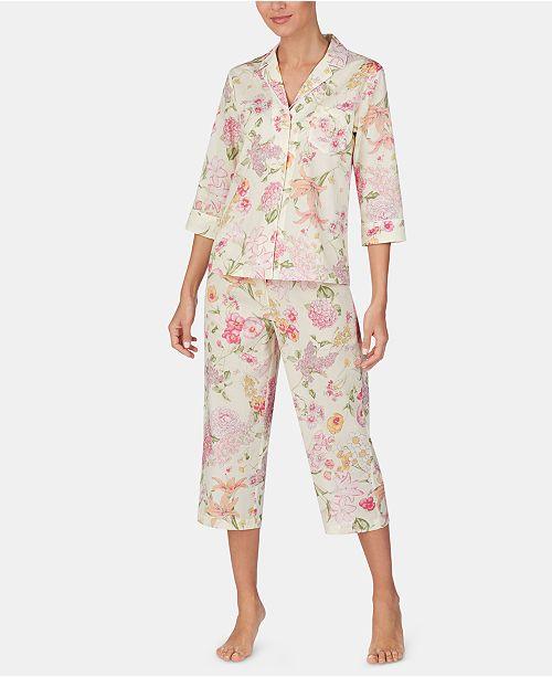 petite Top & Capri Pajama Set