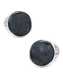 Sterling Classic Round Goldstone Galaxy Cufflinks