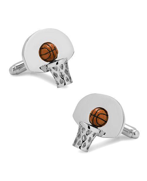 Cufflinks Inc. 3D Basketball Hoop Cufflinks