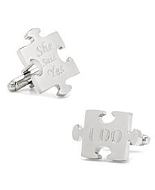Wedding Puzzle Pieces Cufflinks Pair