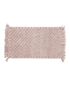 "Arta Stonewash 17"" x 24"" Beaded Cotton Bath Rug"