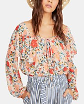 392cce395be48f Free People Say It To Me Ruffled Lace-Bottom Bodysuit