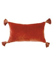 """Home Velvet Tassels 12""""x20"""" Decorative Pillow"""