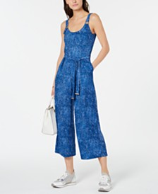 MICHAEL Michael Kors Cropped Belted Jumpsuit, Regular & Petite
