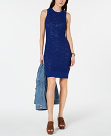 MICHAEL Michael Kors Sweater-Lace Sheath Dress, Created for Macy's