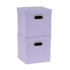 Household Essentials 2-Pc. Iris Heather Storage Box Set