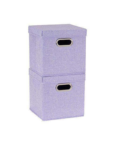 Household Essentials 2-Pc. Iris Heather Storage Box Set