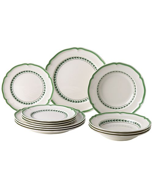 Villeroy & Boch French Garden Green Line 12-Pc. Set, Created for Macy's