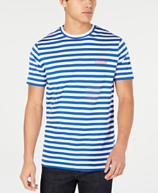 HUGO Hugo Boss Men's Striped Logo T-Shirt